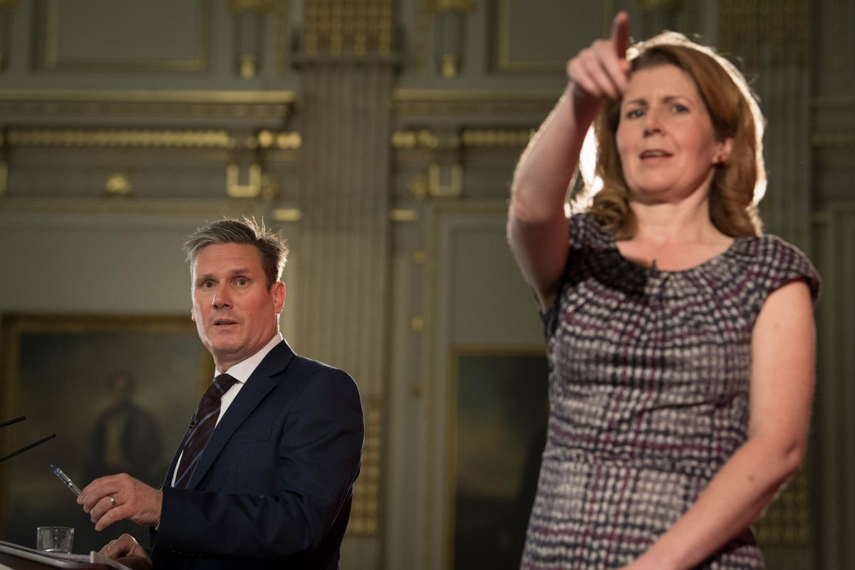 Keir Starmer and Jenny Chapman during the 2017