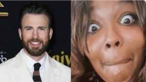 Lizzo slipped drunk into Chris Evans' DMs like a real superhero