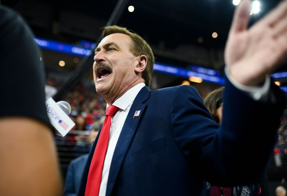Mike Lindell, CEO of My Pillow, was reportedly given the boot from an event for Republican governors late Tuesday night.&nbsp