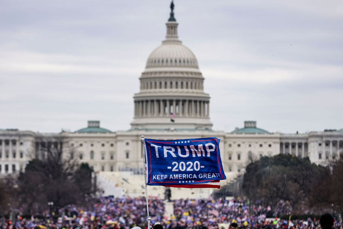 Supporters of Donald Trump storm the U.S. Capitol following a Jan. 6 rally in which the then-president called for action agai
