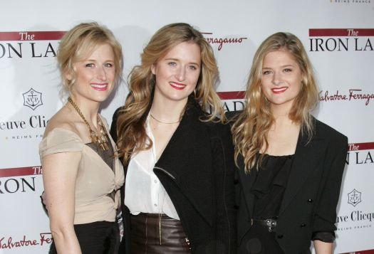 """Mamie Gummer, Grace Gummer and Louisa Gummer attend the New York premiere of """"The Iron Lady"""" on Dec. 13, 2011."""