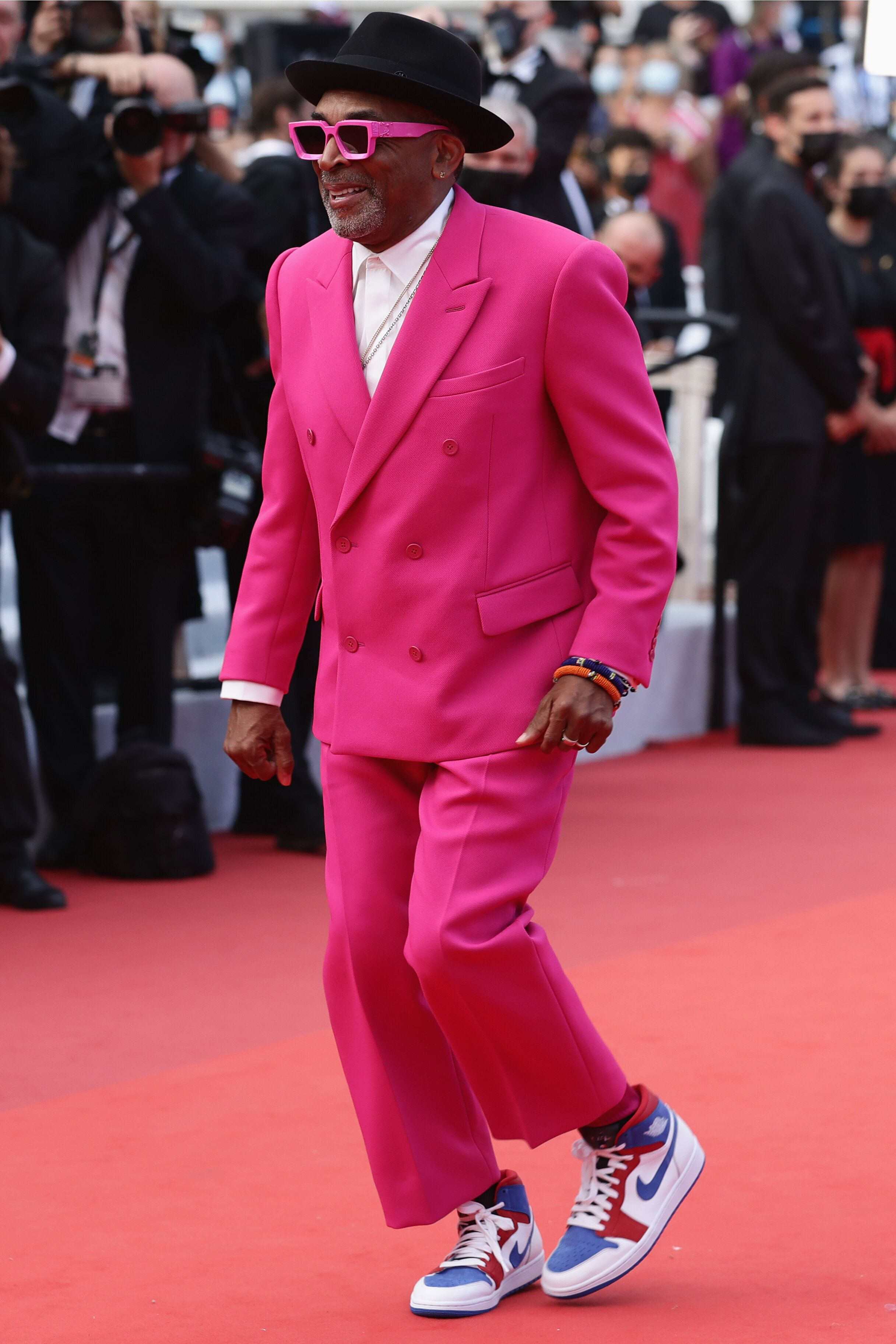 """Director Spike Lee attends the """"Annette"""" screening and opening ceremonyat the 74th annual Cannes FIlm Festival."""
