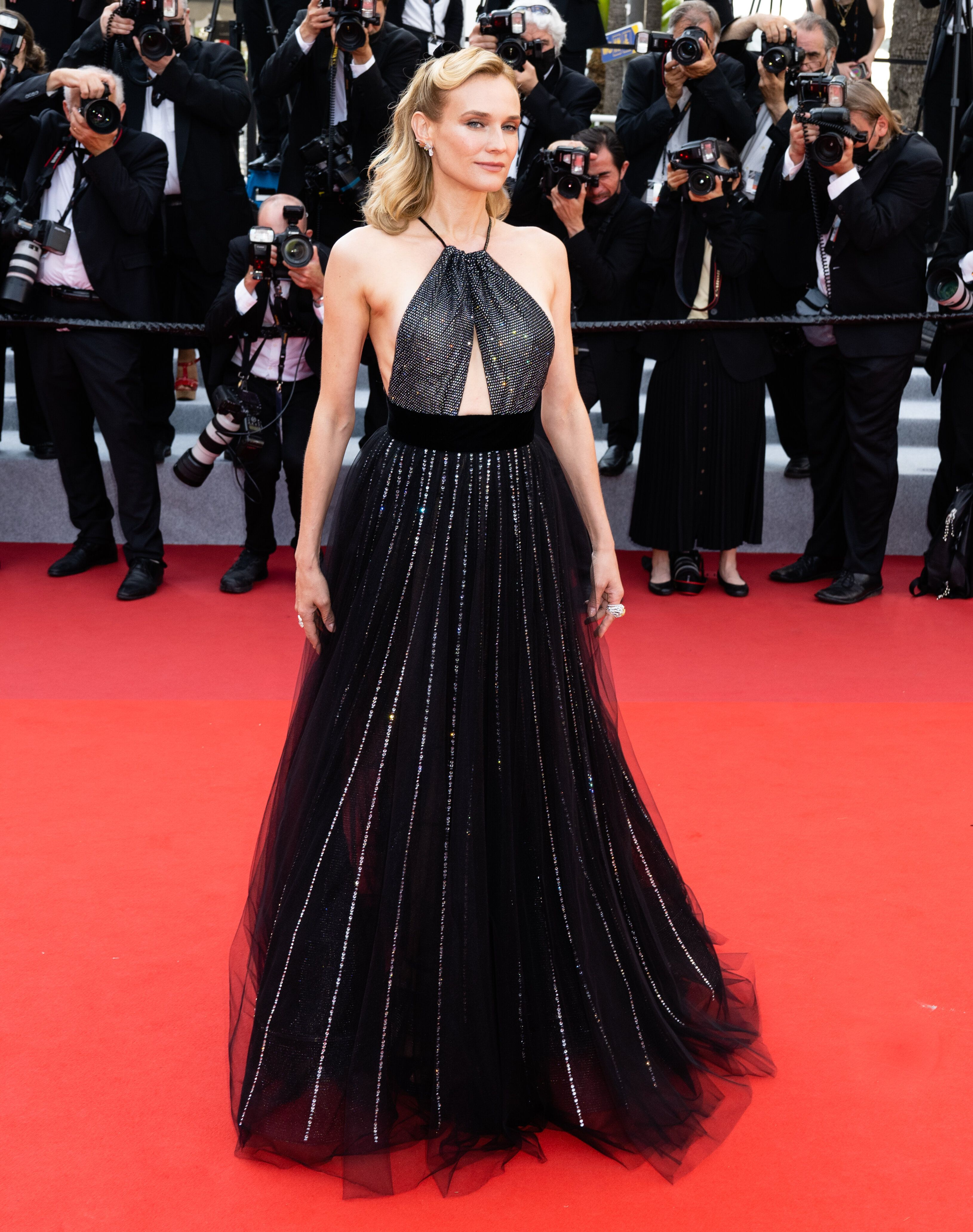 """Diane Kruger stuns on the red carpet at the premiere of """"Tout S'est Bien Passe """" at the74th Annual Cannes Film Festival"""