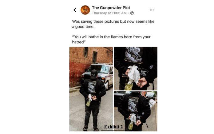 These professionally shot images, which Coffman posted to Facebook, were initially held up as evidence to support the search