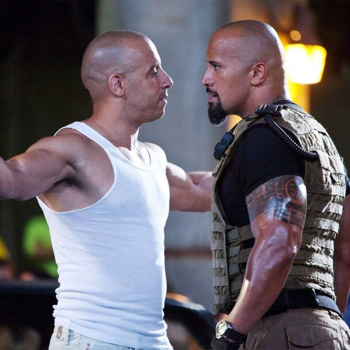 Vin Diesel and Dwayne Johnson in Fast And