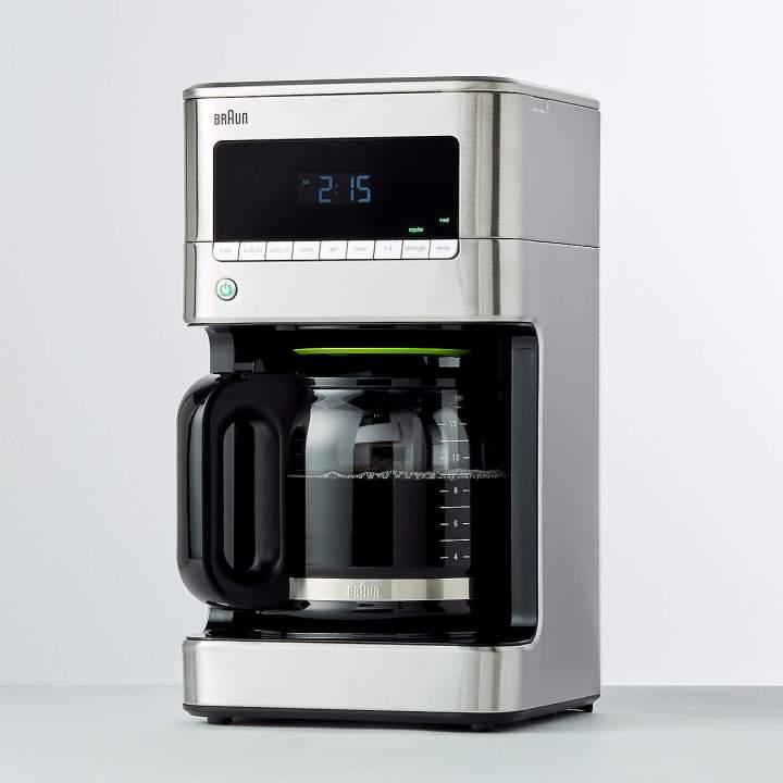 "<a href=""https://go.skimresources.com/?id=38395X987171&xs=1&xcust=coffeemaker-KristenAiken-080321-&url=https%3A%2F%2Fwww.crateandbarrel.com%2Fbraun-stainless-steel-brewsense-12-cup-drip-coffee-maker%2Fs463002%3Fa%3D784%26campaignid%3D12428710069%26adgroupid%3D116195026697%26targetid%3Ddsa-590666256688%26adpos%3D%26creative%3D503075229721%26device%3Dc%26matchtype%3Db%26network%3Dg%26gclsrc%3Daw.ds%26gclid%3DCjwKCAjwgISIBhBfEiwALE19SRxXBIc7n_SIaY1Kx_rKJRuy9GCH-6hohWcQDTmWqw8JXGxzuVX3cxoCKJcQAvD_BwE"" target=""_blank"" role=""link"" rel=""sponsored"" data-ylk=""subsec:paragraph;itc:0;cpos:__RAPID_INDEX__;pos:__RAPID_SUBINDEX__;elm:context_link"">Get the Braun Stainless Steel BrewSense 12-Cup Drip Coffee Maker for 5.95.</a>"