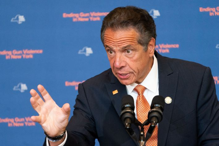 New York Gov. Andrew Cuomo speaks during a news conference in July. On Tuesday afternoon, he denied a state attorney general