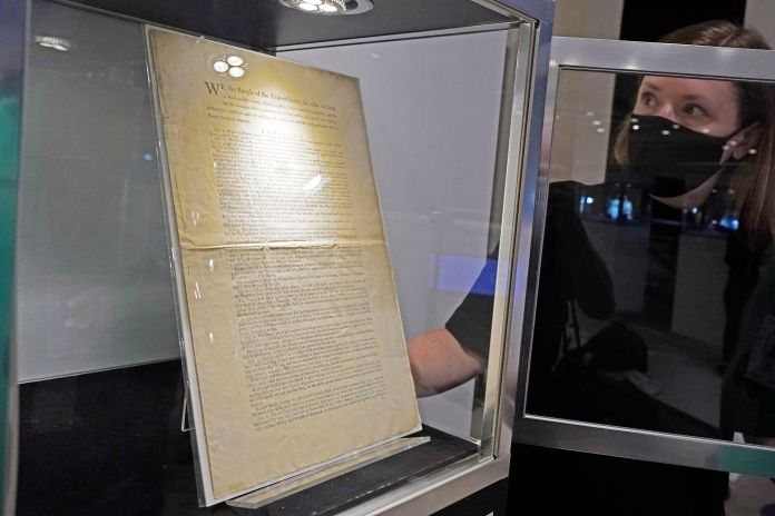 It will join about 80 constitutional and related documents up for auction by the venerable house.