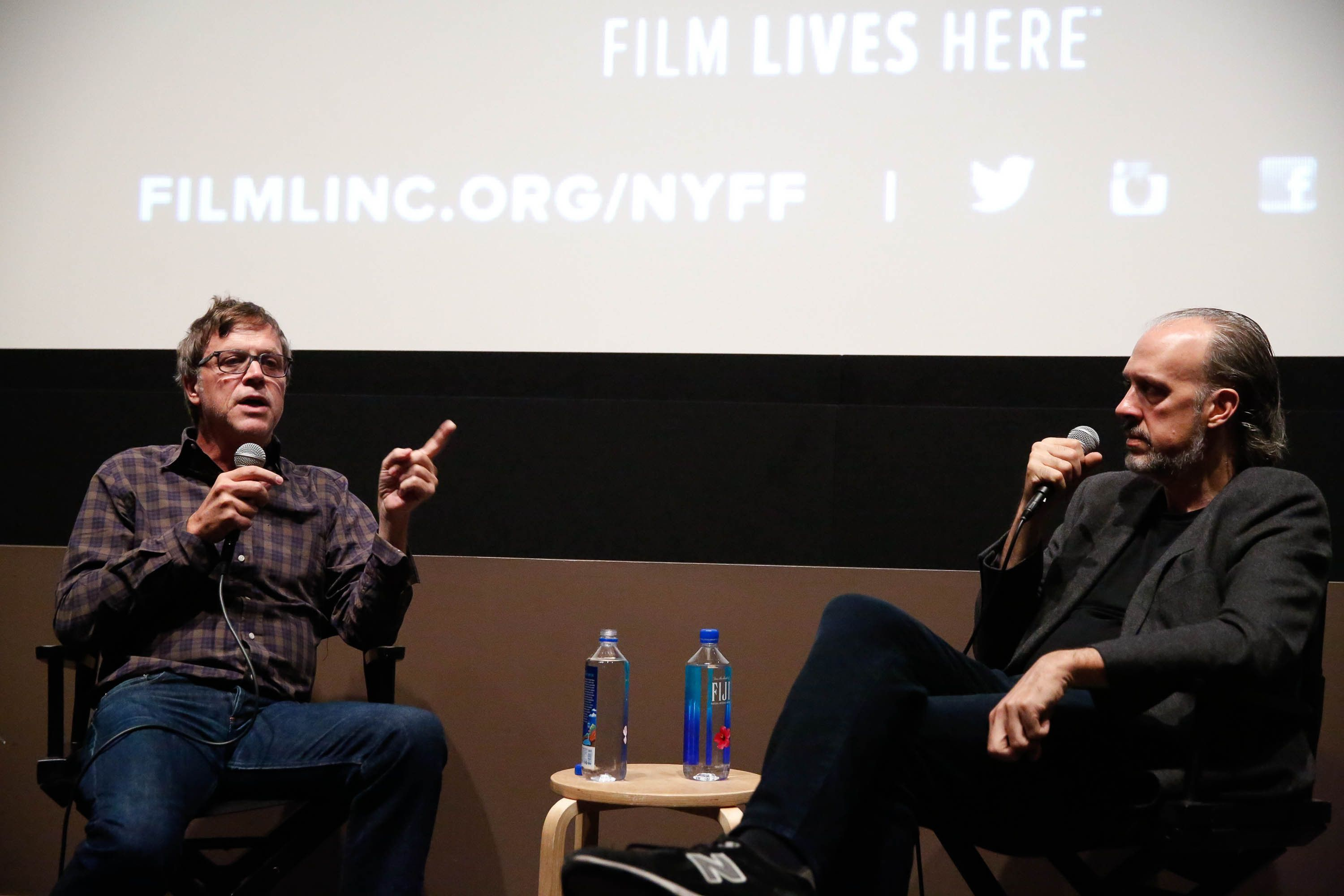 "<span class='image-component__caption' itemprop=""caption"">Todd Haynes, left, speaks with New York Film Festival director of programming Kent Jones on Oct. 10, 2015.</span>"