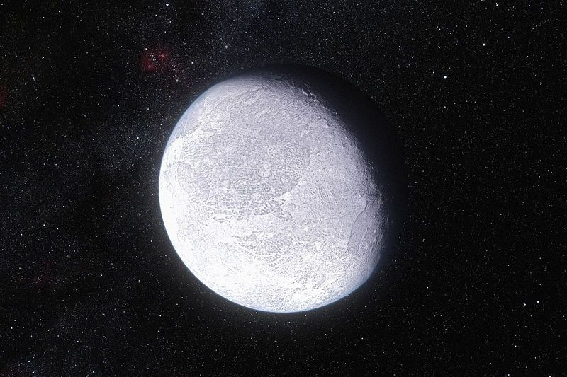 "<span class='image-component__caption' itemprop=""caption"">An artist's impression showing the dwarf planet Eris, which was previously recognized as the solar system's most distant object.</span>"