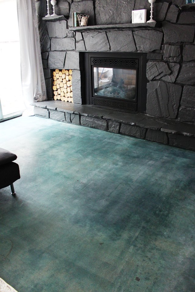How to Acid Stain a Concrete Floor  Hunker