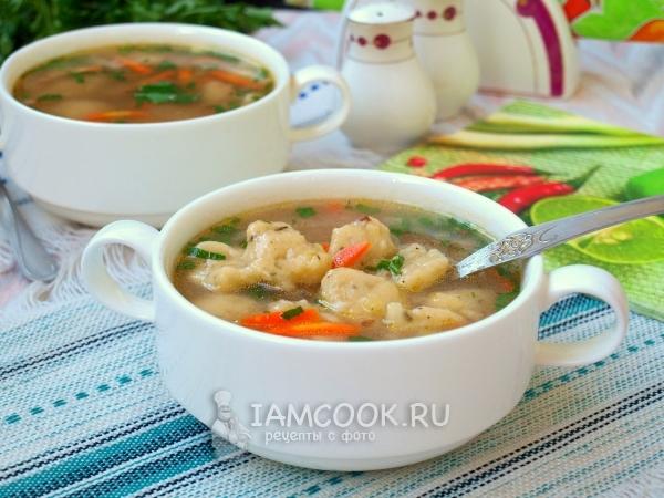 Рецепт гречневого супа с картофельными клецками