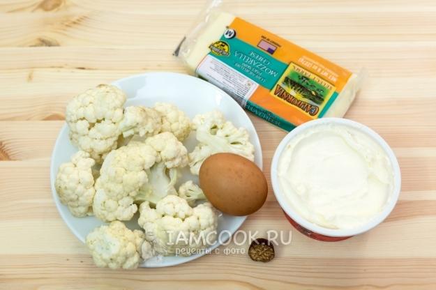 Ингредиенты для цветной капусты со сметаной в духовке