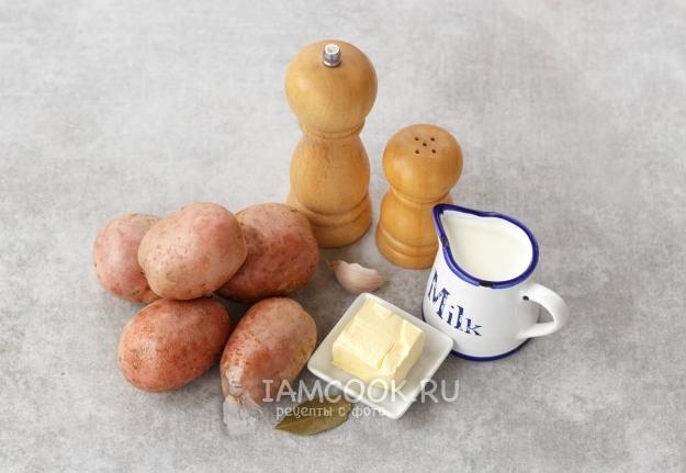 우유와 함께 피치 (푸시 된 감자) 성분