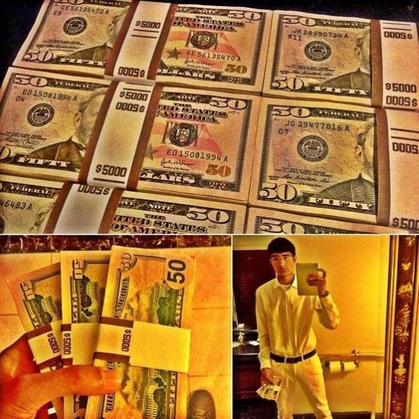 Jovem milionário ostenta muito dinheiro no Instagram e gera polêmica na web