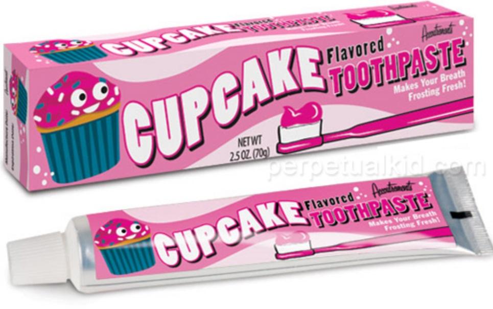 Empresa lança creme dental sabor cupcake