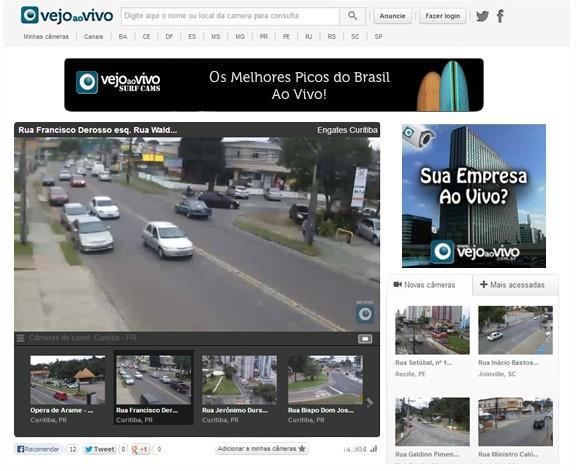 VejoaoVivo: assista em tempo real a câmeras em diversos pontos do Brasil