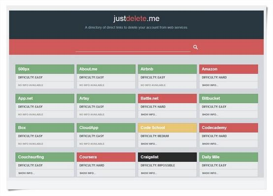 Just Delete Me: cancele seus serviços online e desapareça da internet