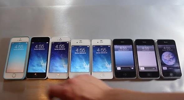 Vídeo compara a velocidade de todos os modelos de iPhone já lançados