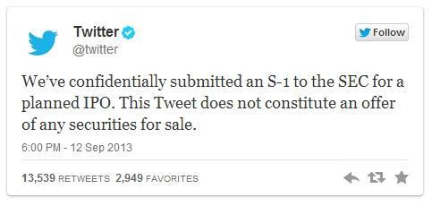 Twitter vai se tornar uma companhia pública