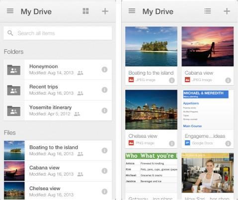 Aplicativo do Google Drive para iOS tem o seu visual atualizado