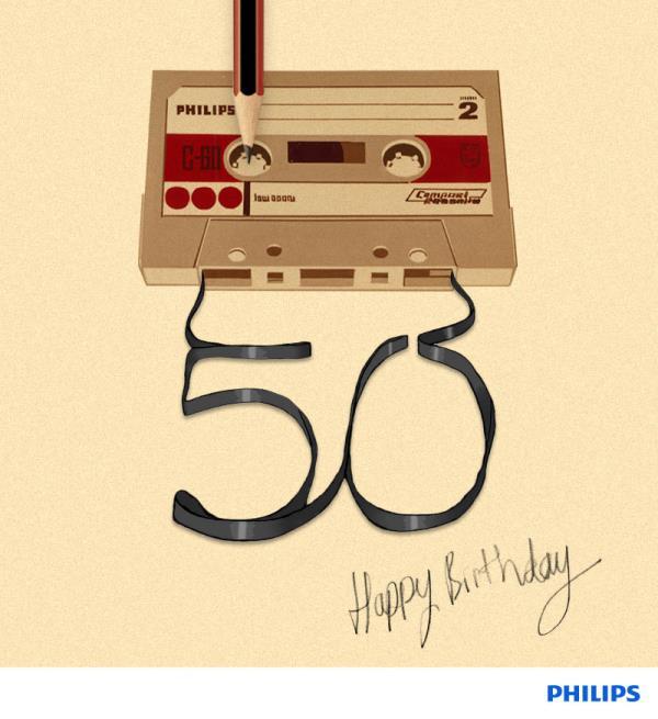 Fita cassete completa 50 anos de vida