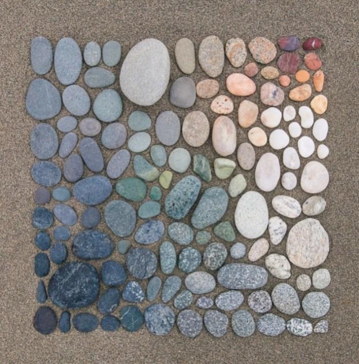 As pedras e sua cores.