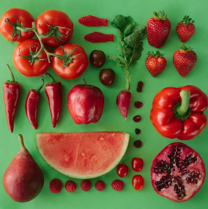 Frustas e verduras.