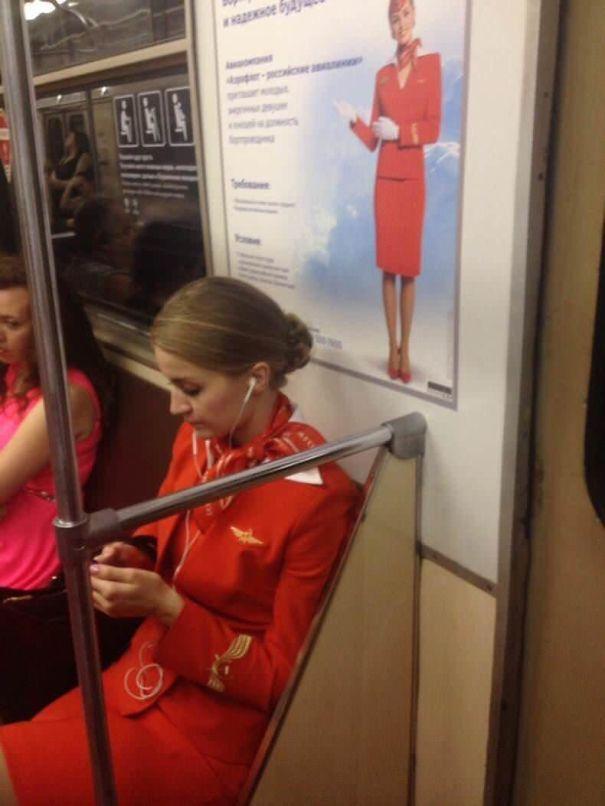 Coincidência no metrô
