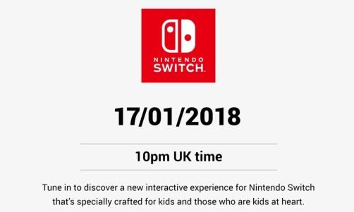 Nintendo fará um anuncio hoje 17 de Janeiro de 2018