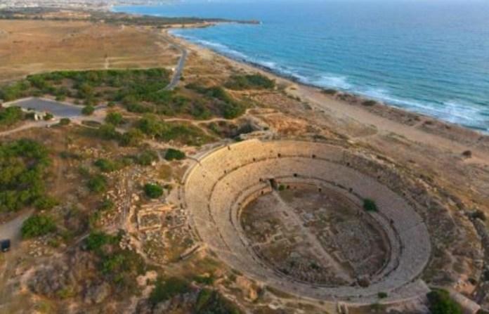 la Arena de Leptis Magna, Libia