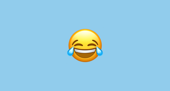Emoji llorando de la risa