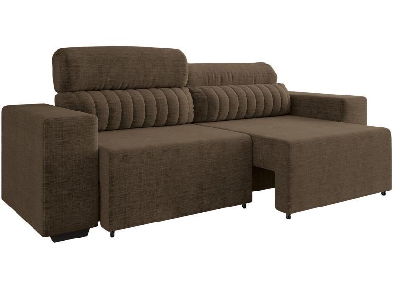 Imagem: Sofá 4 lugares Reclinável Retrátil Suede Elite Style Linoforte