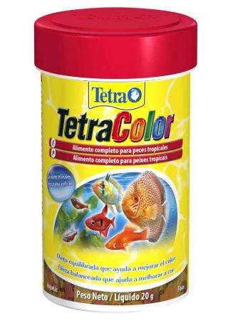 Imagem: Tetra Color Flakes 20g, para todos os tipos de peixes