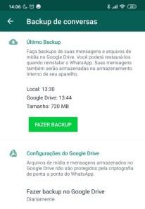 backup de mensagens do whatsapp