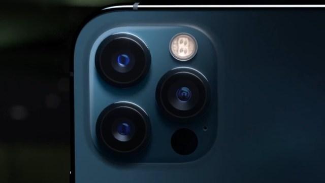As câmeras do iPhone 12 Pro.