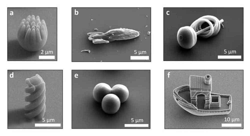 Os pesquisadores testaram inúmeras formas para testar como o formato do micronadador afeta a sua mobilidade.