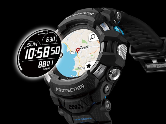 The G-Shock GSW-H1000 combines two LCD screens.