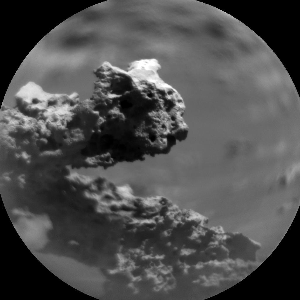 Rocha encontrada na cratera Gale.