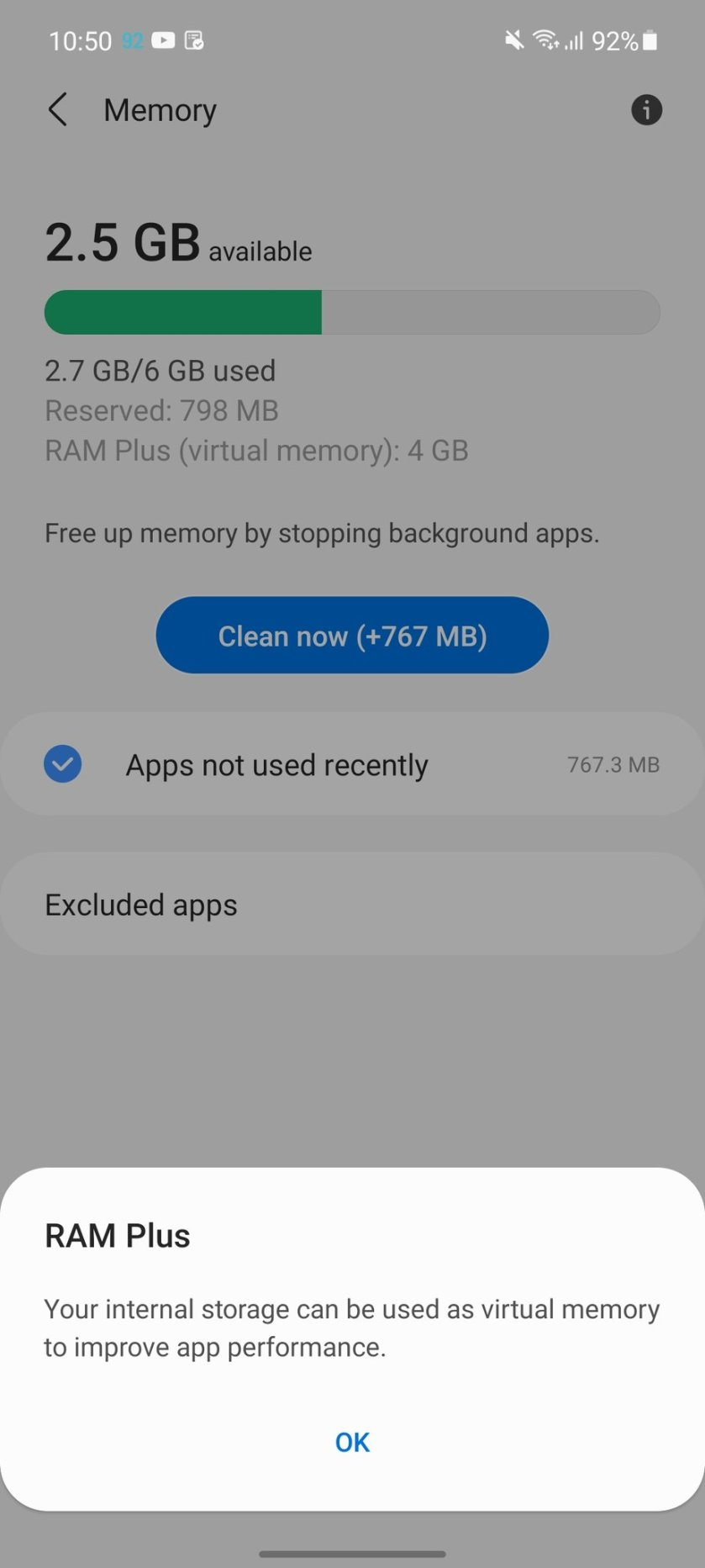 For now, RAM Plus is only available to Indian users.