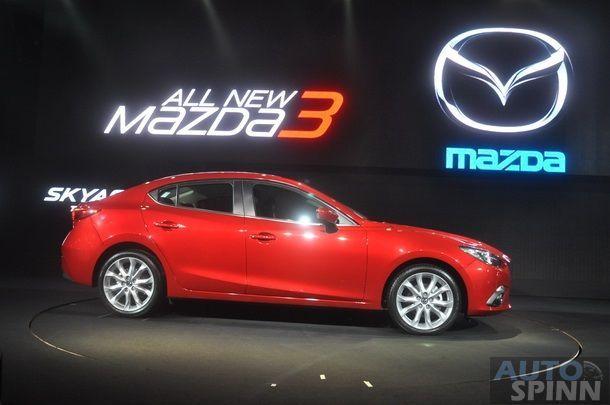 ชมภาพตัวเป็นๆ 2014 All New Mazda 3 E85 พร้อมทำความรู้จักกันแบบ ...