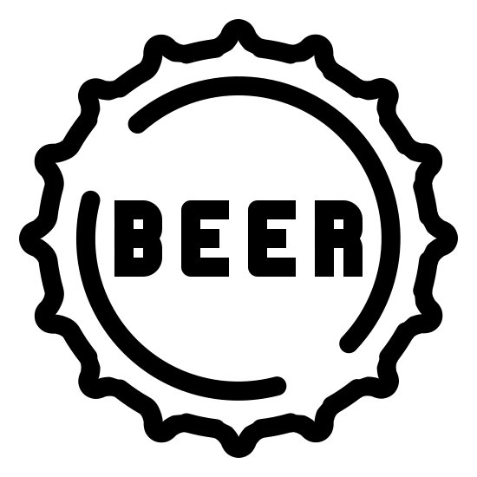 Kronkorken Bierflasche Icon