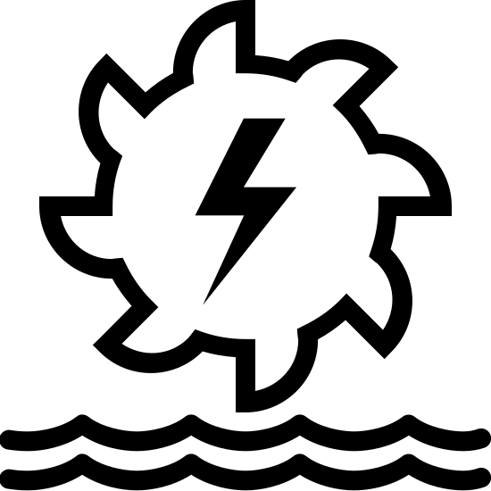 Wasserkraft Icon