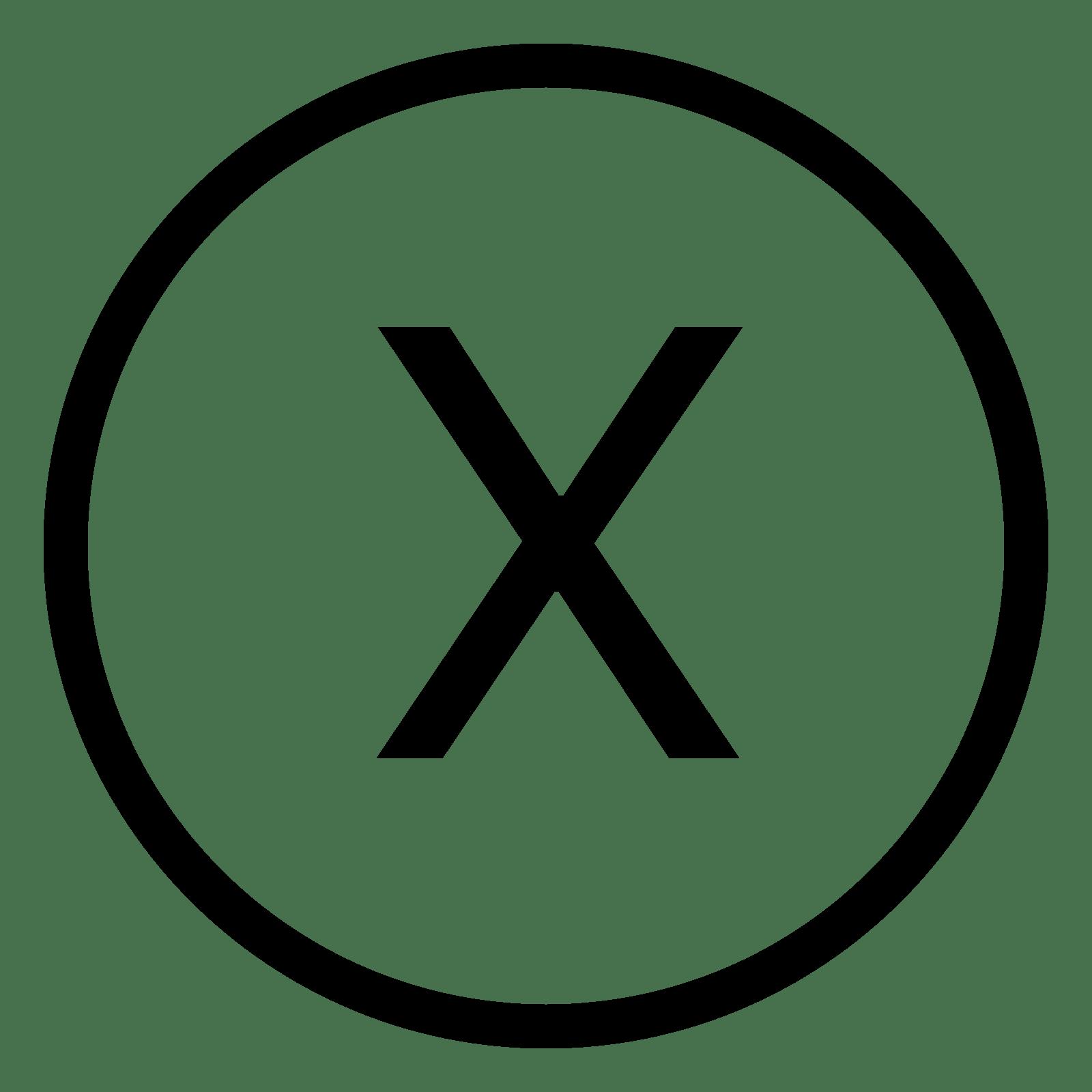 Xbox X Icon