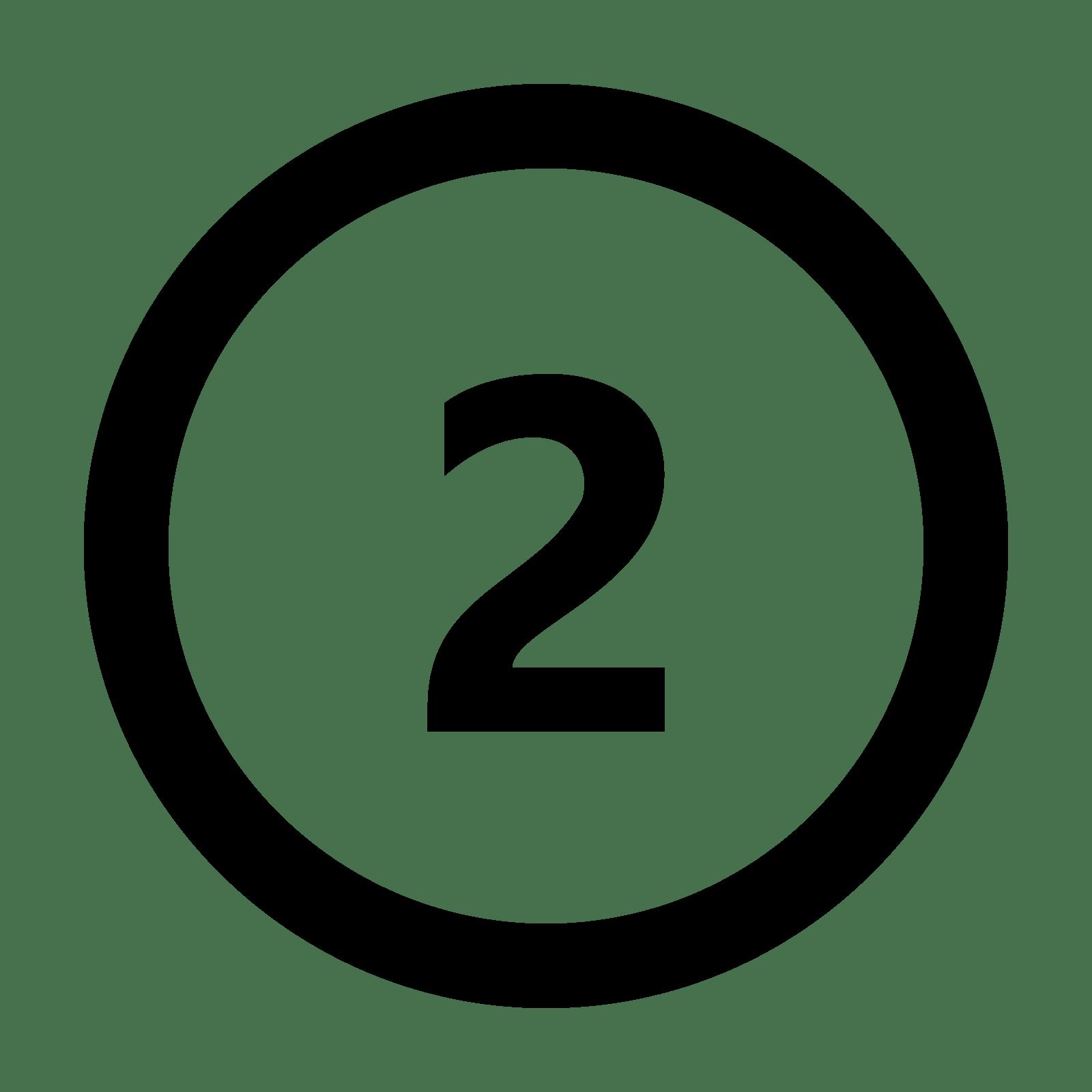 Circled 2 Icon