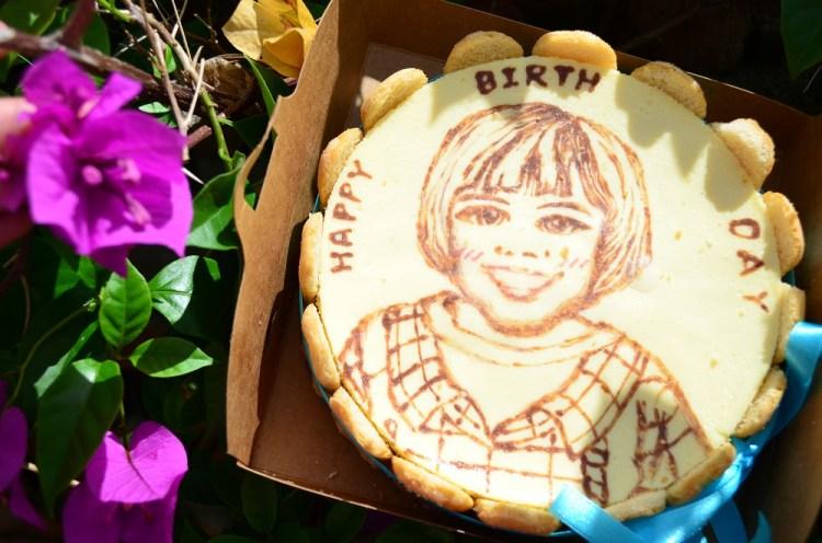 手繪蛋糕_藝雀 ArTit 專業乳酪繪畫│慶祝小肥肉滿兩歲啦!祝你生日快樂~