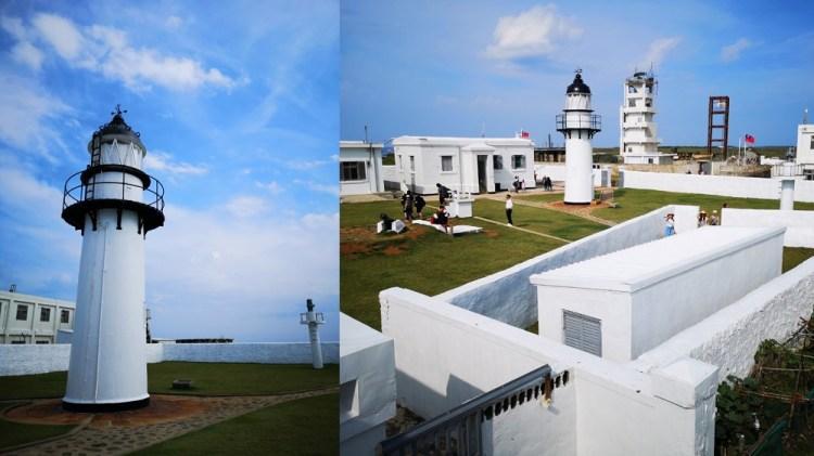 澎湖景點_漁翁島燈塔│觀看夕陽最佳景點,澎湖西嶼最西邊的黑白燈塔!