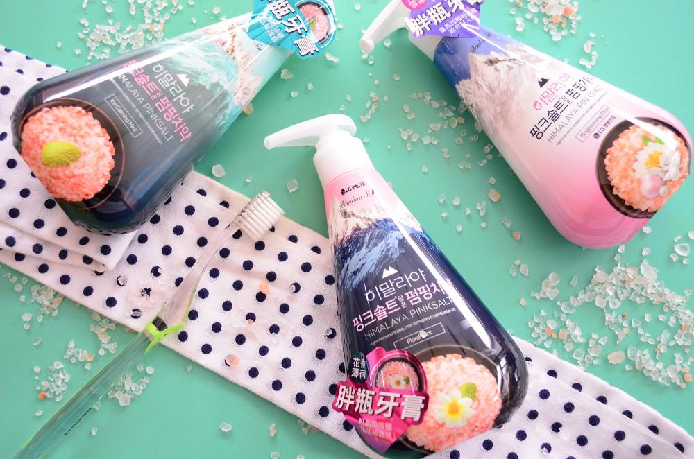 牙齒保健_ LG│韓國暢銷喜馬拉雅粉晶鹽PUMPING系列牙膏、漱口水,清新口氣贏得好人氣~