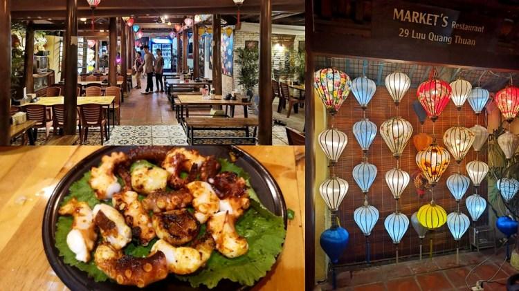 峴港美食_음식점 Market's BBQ│中越特色美食餐廳,炭烤章魚很好吃~適合喝酒聊天的地方。