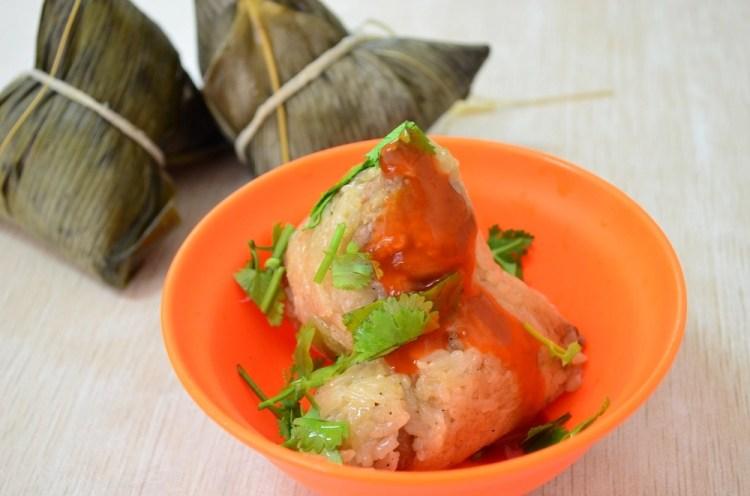 廟邊肉粽│田中美食、彰化肉粽,隱藏在廟邊巷弄內的古早味小吃~